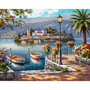 DIY Diamond Embroidery Seaside Scenery Full Square Crystal Diamond Painting Cross Stitch Needlework Craft Mosaic Gift YD