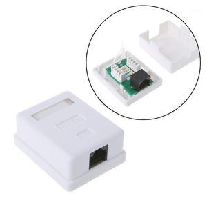 Computer Cables & Connectors Cat6 RJ45 8P8C UTP Unshielded Single Port Desktop Mount Box1