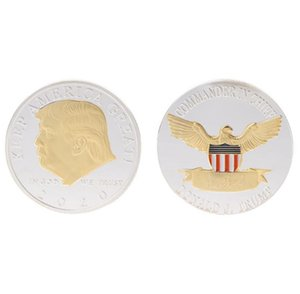 Donald Trump Coin American President Commemorative Coins Keep America Great Gold Silver Badge Election Supplies DHF2844