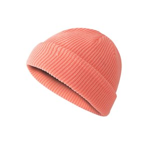 Knitted Hat Unisex Retro Hats Skullcap Autumn Winter Warm Men Short Wool Cap Women Simple Beanies Dome LLA265