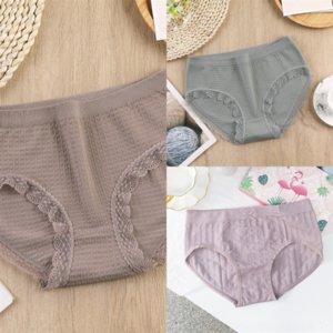 VMZ Set Hosen Beweis Unterwäsche Bambus Unterwäsche in Lady Frauen Perioden Leck Menstruation High ElasticMid Taille Streifen Damen Sanitärwolle