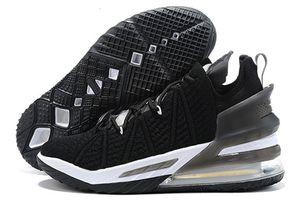 Gang Леброн Oreo XVIII Черный 18 Университет Красный Белый Дети Баскетбол обувь Горячие 18s Продажа Джейд Мужчины Sneaker 4l3c