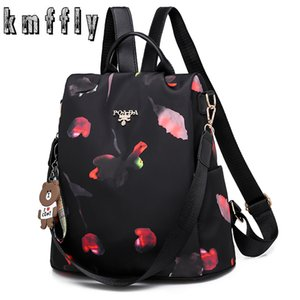 New Multifunction Women Oxford Multifuction Bagpack Casual Anti Theft Backpack for Teenager Girls Schoolbag Sac A Dos Mochila Q1113