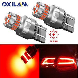2Pcs 3157 P27 7W 7443 W21 5W Tail bulbs Canbus No Error car led parking lamp 12v auto brake lights red
