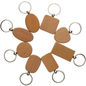 DIY Blank Wooden Key Chain Personalized EDC Wood Keychains Customized Key Tags Car Bag Pendant Keyrings Best Gift Kimter-D274LF