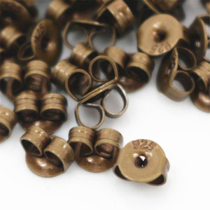 100pcs High Quality 925 Classic 6 Colors Plated Copper Metal Earring Back Plug Earring Settings Base Ear St bbyyYK
