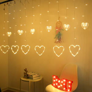 LED Curtain Light Romantic Fairy Tale Love Curtain Light Christmas Wreath Light for Wedding Party Holiday Decoration Free Shipping
