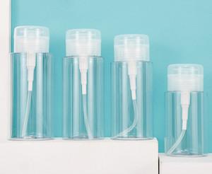 150ml 200ml 300ml şeffaf Temizleyici Su şişeleri açık Basın kozmetik depolama şişeleri Toner şişelerini almak