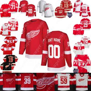 Detroit Wings Red Jersey Bob Probert Chris Chelios Marcel Pronovost Slava Fetisov Larry Murphy Vladimir Konstantinov Darren McCarty DatSyuk