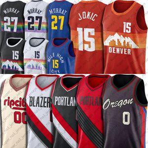 Nikola 15 Basket Jokic Jersey Jamal 27 Murray Jerseys Damian 0 Lillard Jersey Carmelo 00 Anthony Jerseys Portlands Denvers Uniform