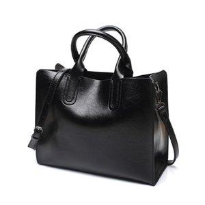 BLGBY PU-Ledertasche Klassische Handtaschen Berühmte Marken Frauen Umhängetasche Big Casual Tote Vintage Oil Leder Damen Crossbody Taschen