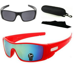 $9.9 One Pair With Case ! Epacket Delivery Retro Sunglasses Fashion batwolfs Sunglasses Outdoor Sport sunglass Many Colors.