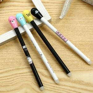 Silinebilir Kalem Kawaii Maç Tasarım Jel Kalem 0 .38mm Siyah Mürekkep Kalemler İçin Okul Ofis Malzemeleri