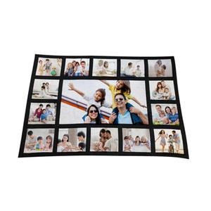 125 * 150 cm de sublimación térmica Fleece Blanket calor impresión de la tela estera de la felpa de bricolaje en blanco de la alfombra 9 15 20 bandejas de tela escocesa mantas de cama edredón Nueva F102002