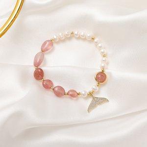 "Bracciale Red \ ""con i Pink Jade coda Bracciale Red Pearl Bracciale Pearl \"" con i Pink Jade coda bwfiR"
