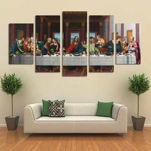 Modern Canvas Art Wall Art Prints 5 Piece Last Dinner Painting Home Decor Poster Picture Canvas Artwork For Living Room Decor