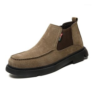 Men's Ankle Boots Suede Leather Men Boots Winter Autumn Shoes Fashion Men Casual Ankle Shoes Men's Boot1