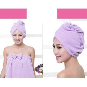 Fashion Microfiber Bath Towel Hair Dry Quick Drying Lady Soft Shower Cap Hat For Lady Turban Head Wrap Bathing Tools