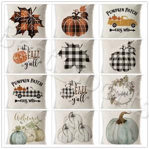 Halloween Federa zucca Divano tiro federa stampata o un'immagine plaid cuscino della copertura della cassa Pillowslip Ufficio Car Home Decor YYA500