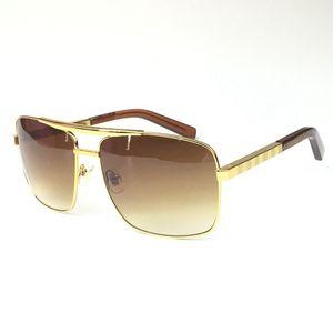 Z0259U Z0260U Z0261U 948 мужские высококачественные квадратные солнцезащитные очки металла обеспечивают женщин с UV 400 золотых черных серебряных очков