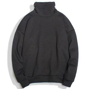 2021 Yeni Alefen Mens Triko Katı Renk Balıkçı Yaka Kazak Kış Sıcak Japon Tarzı Moda Kazaklar Kazak Streetwear MC28 6O8