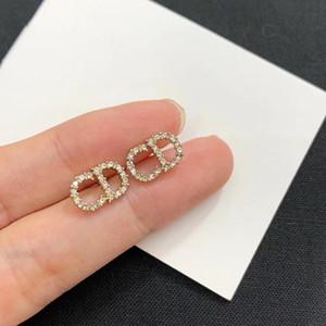 925 orecchini in argento CD versione femminile Seiko coreana di fascia alta orecchini di diamanti alfabeto inglese per il giorno di San Valentino la fidanzata