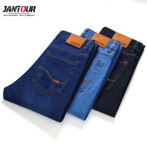 Jantour 2020 nuevos pantalones vaqueros de los hombres clásicos de alta calidad Jean pierna recta pantalones masculinos más el tamaño 28-40 Casual Pantalones de algodón de mezclilla para hombre C1019
