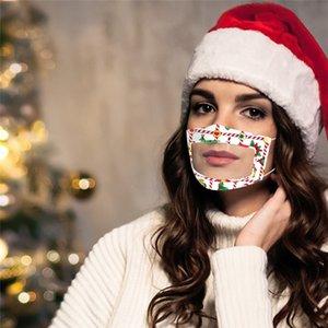 Mit Visible Clear Window Earloop Maske Lippenlesen Transparente Masken Weihnachten Gesichtsmaske Lippentaubstummen Impaired Deaf Mundmaske GGE1804