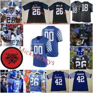 Custom Kentucky Wildcats Football Jersey 41 Джош Аллен 26 Benny Snell Jr. Lynn Bowden Danty Clark Yusuf Corker Джош Пасхал Кентукки Джерси