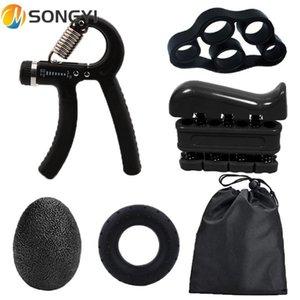Songyi New 5pcs Fitness Fitness Piedra Grips Muñeca Rehabilitación Desarrollador Expansor Mano Gripper Expendedor Fuerza Dispositivo de entrenamiento I97