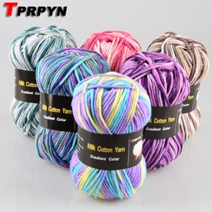 100G = 1 PZ Colorato Colorato Lay Cotton Filato pettinato Blended Crochet Yarn Yarn Knitting Maglione Sciarpa Sciarpa 7plyS C1030