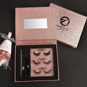 [Conjunto de pestañas para maquillaje-013] 3 pares de pestañas de imán, pestañas hermosas, pestañas falsas suaves y cómodas
