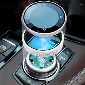 자동차 스타일링 멀티미디어 버튼 스위치 프레임 커버 스티커 패널 1 2 시리즈 X1 F48 F52 F45 F46 인테리어 자동차 액세서리 1