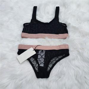 Mujeres Sexy Lace Bra Sets Ins F Moda Letra Jacquard Lady Lingeries Regalo de cumpleaños para la ropa interior de la marca femenina