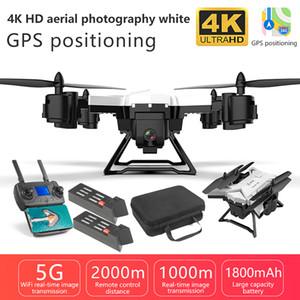 Yeni Pro Katlanabilir GPS Drone KY601G 4K HD Kamera 5G WiFi FPV Drone LED 2.4G 4CH 1.8km Uzun Mesafe 20 Dak Uçuş RC Quadcopter 201015