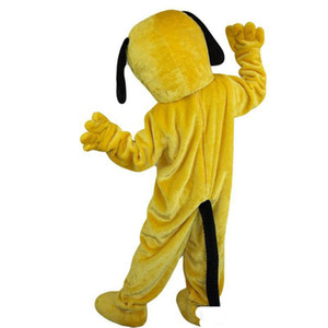 2019 Factory direct sale yellow dog Mascot costumes for adults circus christmas Halloween Outfit Fancy Dress Suit Free Shipping
