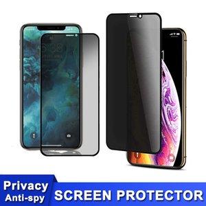 مكافحة التجسس الشاشة حامي لهواوي سامسونج المضادة للوهج الخصوصية الزجاج المقسى آيفون 12 12 ميني برو ماكس 11 XR إكسس SE2 مع الأسود الحافة