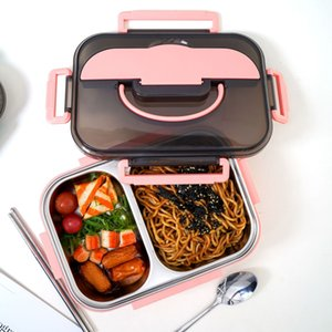 304 stainless steel insulated lunch box student office worker out lunch box (H style)