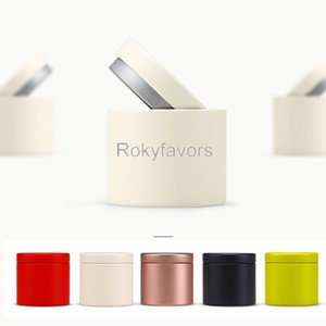 50PCS 47x45mm 5 Colors Portable Mini Tea Caddy Metal Tea Tin Sweet Candy Storage Boxes Party Favors Event Giveaways Little Things Cans