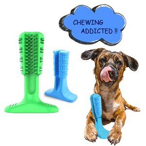 Dog Toys & Chews Toothbrush Stick Dental Care Brushing Effective Natural Rubber Bite Resistant Chew For Pets