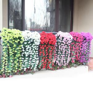 Hängende Blumen Künstliche Violet Blumen-Wand Wisteria Korb hängend Garland Rebe-Blumen-Fälschungs-Silk Orchid