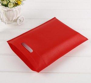 Nueva 25x30cm / 25 * 35cm / 30 * 40cm / 35 * 45cm / 40 * 50 cm Bolsa de compras reutilizables de tela no tejida Bolsa plegable Bolsa de la compra para el regalo