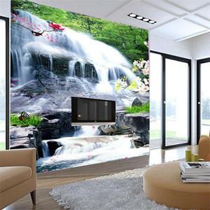 Drop Shipping Custom Mural 3D Study Room Living Room Bedroom Background Wallpaper Landscape Painting Waterfall Wallpaper Mural