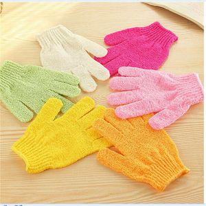 Exfoliating Bath Glove Body Scrubber Glove Nylon Shower Gloves Body Spa Remover Dead Skin Massage Glove FF237