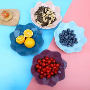 Nut Placa da fruta Bandeja criativo prato de frutas Início Sala de plástico Escritório Doce Snack Melon Semente placa porca