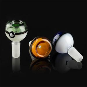 14 millimetri ciotola ciotola 18 millimetri stile sferica con chiaro tubo manico colorato per ciotole in vetro fumo bong