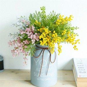 40CM Acacia Gefälschte Blumen Künstliche Grünpflanze Acacia Bean Bunch DIY Hochzeit Weihnachten Garten Inneneinrichtungen Bean Grass ruoE #