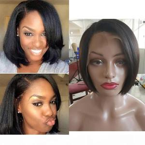 Perruques de cheveux Head Dentelle Head Humain Courts Petits perruques coupées avec bébé Coiffes de bébé Coiffure Africaine Coupe-cheveux Style Brésilien Wigs pour femmes noires