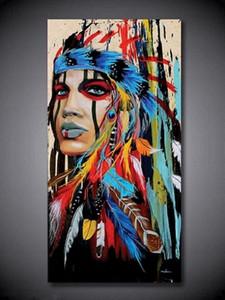 2. Encadré Nonframed Haute Qualité Hauteté HD Abstrait Portrait Art Peinture à l'huile sur Toile Murale Décor Multi tailles Sa328