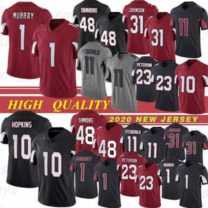 10 Deandure Hopkins 48 Simmons Kyler 1 Murray Men Jerseys Jerseys 11 Larry Fitzgerald 31 David 23 Maglie da calcio Peterson Cucitate
